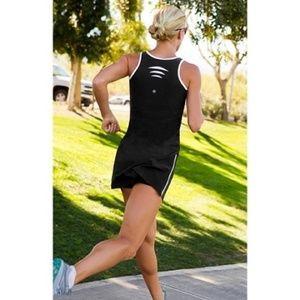 Athleta Black White Running Tennis Dress